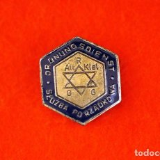 Militaria: GHETTO JEWISH POLICE HAT BADGE. Lote 157007986