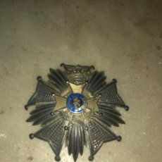 Militaria: GRAN MEDALLA - PLACA CRUZ ORDEN LEOPOLDO II DE BÉLGICA - L'UNION FAIT LA FORCE -. Lote 157276353