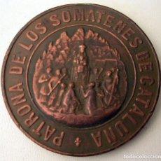 Militaria: MEDALLA MONTSERRAT REY ALFONSO XIII PATRONA SOMATENES CATALUÑA. 1904.. Lote 157699478
