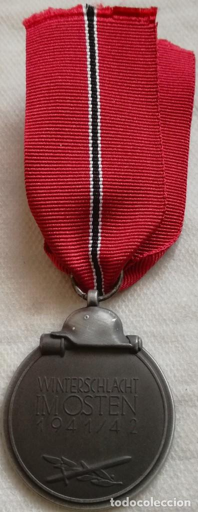 Militaria: RÉPLICA Medalla Campaña Invierno del Este. Campaña de Rusia. 1941-1942. Ostmedaille. División Azul - Foto 3 - 158164026