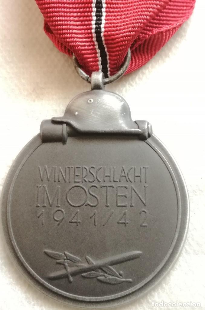 Militaria: RÉPLICA Medalla Campaña Invierno del Este. Campaña de Rusia. 1941-1942. Ostmedaille. División Azul - Foto 4 - 158164026