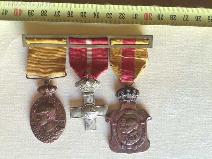 PASADOR,MEDALLA CAMPAÑA DEL RIF TROPA, CRUZ DE PLATA MÉRITO MILITAR Y MEDALLA DEL HOMENAJE (Militar - Medallas Españolas Originales )