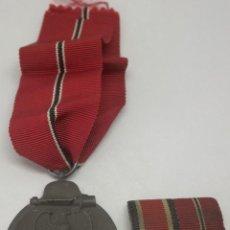 Militaria - Medalla Campaña Invierno del Este + Pasador Cruz de Hierro División Azul Rusia 1941-1942 Ostmedaille - 159116250