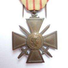 Militaria: FRANCIA: CRUZ DE GUERRA 1939. MEDALLA FRANCESA – SEGUNDA GUERRA MUNDIAL - 1 CITACIÓN. Lote 159275282
