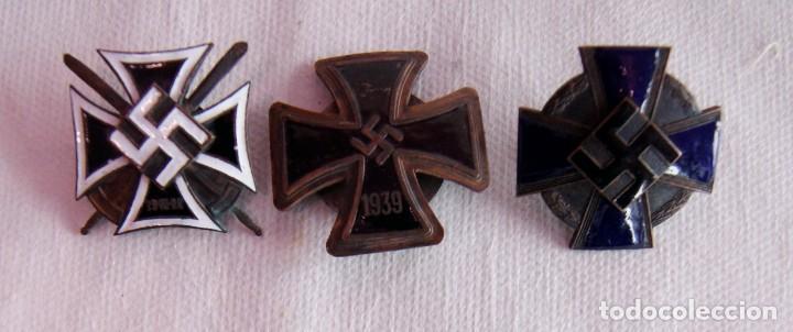 3 CRUCES ALEMANIA NAZIS ESMALTES GUERRA MUNDIAL (Militar - Reproducciones y Réplicas de Medallas )