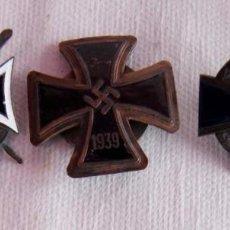 Militaria: 3 CRUCES ALEMANIA NAZIS ESMALTES GUERRA MUNDIAL. Lote 159400602