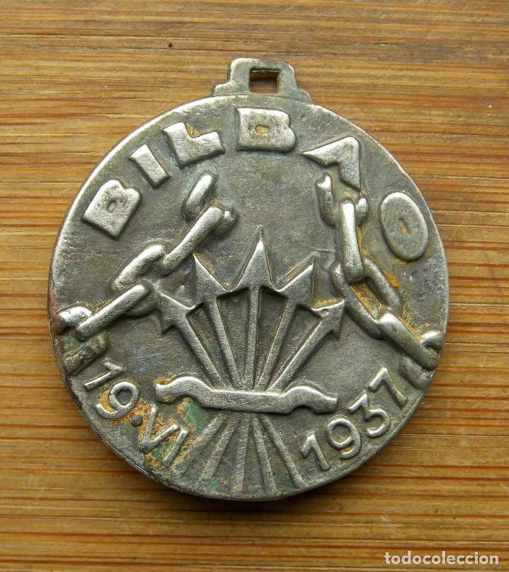 Militaria: MEDALLA ITALIANA POR LA TOMA DE BILBAO. ORIGINAL.GUERRA CIVIL 1937 - Foto 2 - 159866306