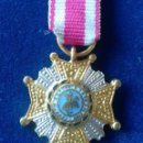 Militaria: MINIATURA PLACA ORDEN DE SAN HERMENEGILDO. Lote 160160354