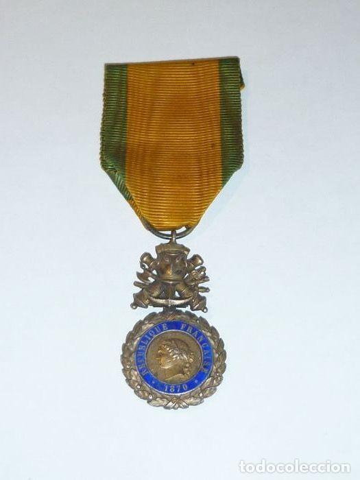Militaria: Medalla de Plata del ejercito de Francia, WWI, Guerra de 1914 - Foto 2 - 160199870