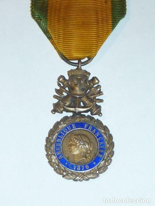 Militaria: Medalla de Plata del ejercito de Francia, WWI, Guerra de 1914 - Foto 3 - 160199870