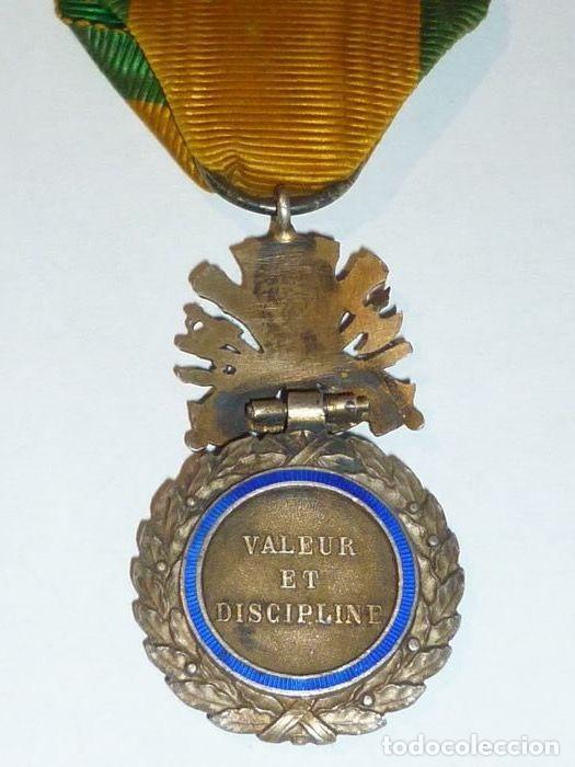 Militaria: Medalla de Plata del ejercito de Francia, WWI, Guerra de 1914 - Foto 5 - 160199870