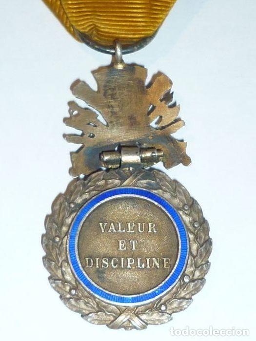 Militaria: Medalla de Plata del ejercito de Francia, WWI, Guerra de 1914 - Foto 6 - 160199870