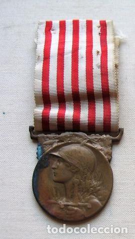 MEDALLA DE LA GUERRA 1914-1918, BRONCE, INFANTERÍA FRANCESA. (Militar - Medallas Internacionales Originales)