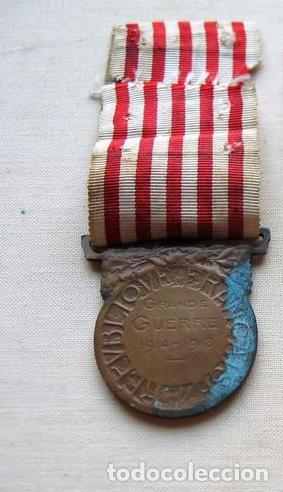 Militaria: Medalla de la Guerra 1914-1918, Bronce, Infantería francesa. - Foto 2 - 160204958