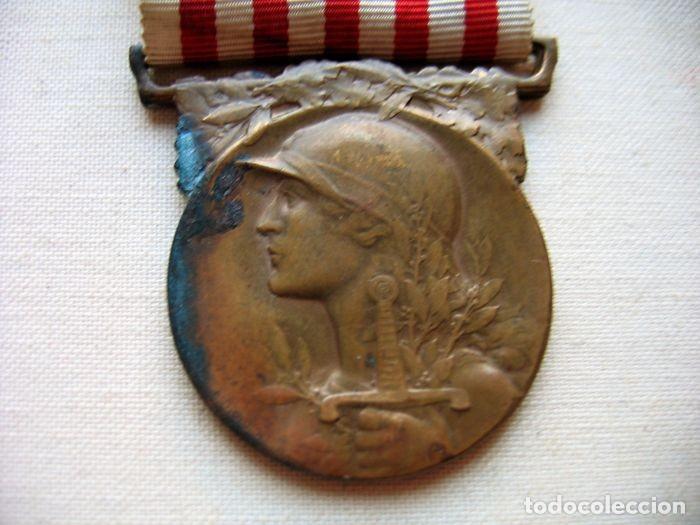 Militaria: Medalla de la Guerra 1914-1918, Bronce, Infantería francesa. - Foto 3 - 160204958