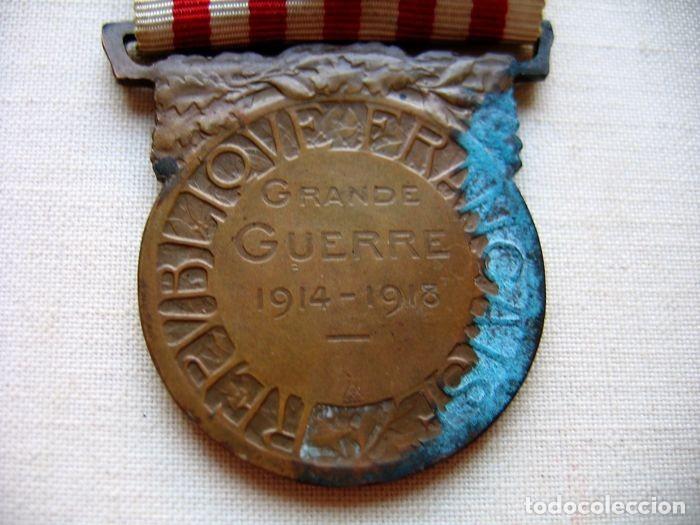Militaria: Medalla de la Guerra 1914-1918, Bronce, Infantería francesa. - Foto 4 - 160204958