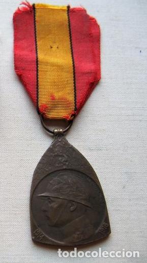 MEDALLA DE LA GUERRA 1914-1918, BRONCE, INFANTERÍA BELGA. (Militar - Medallas Internacionales Originales)