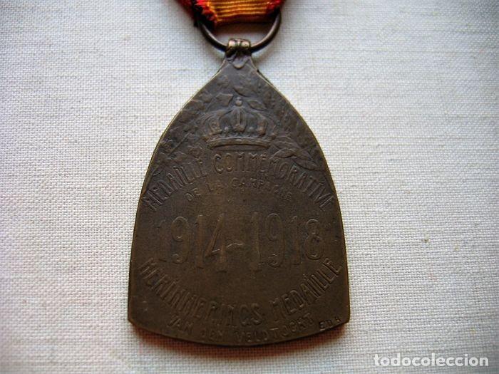 Militaria: Medalla de la Guerra 1914-1918, Bronce, Infantería belga. - Foto 4 - 160205270