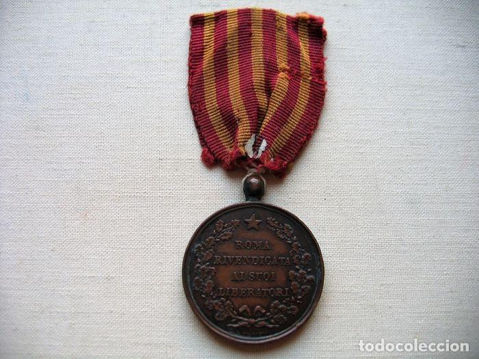 Militaria: Medalla de 1870, infantería italiana, bronce, conmemorativa de la liberación de Roma, - Foto 4 - 160206942