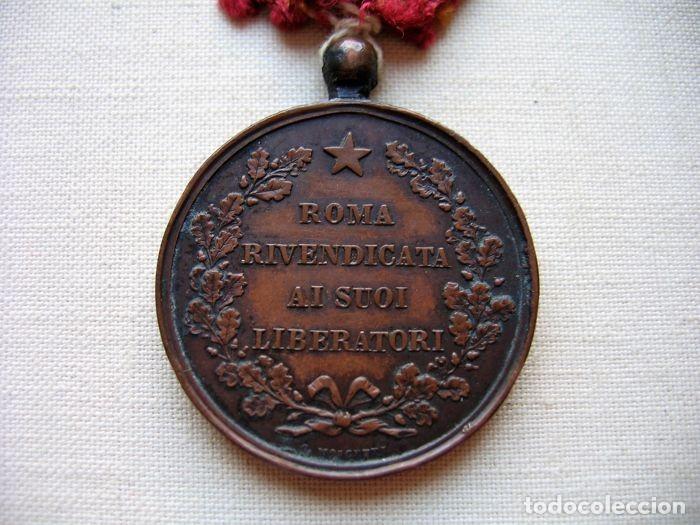 Militaria: Medalla de 1870, infantería italiana, bronce, conmemorativa de la liberación de Roma, - Foto 5 - 160206942