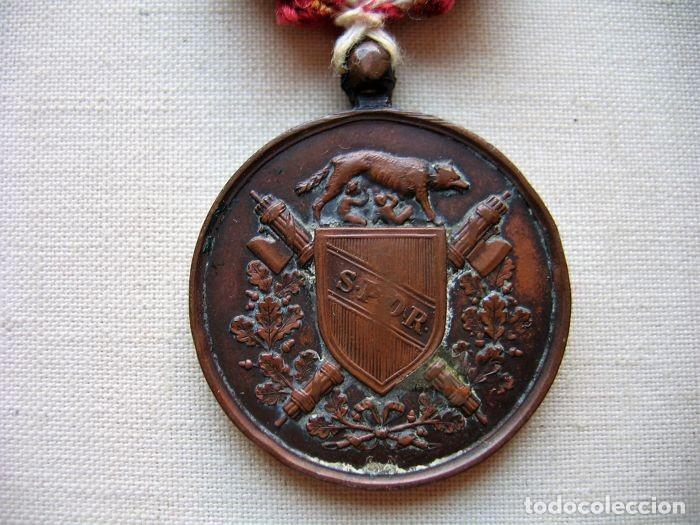 Militaria: Medalla de 1870, infantería italiana, bronce, conmemorativa de la liberación de Roma, - Foto 6 - 160206942