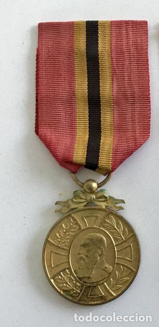 MEDALLA DE LA LEALTAD, 1905, BRONCE DORADO, LEOPOLDO II DE BÉLGICA. (Militar - Medallas Internacionales Originales)