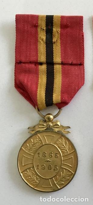 Militaria: Medalla de la Lealtad, 1905, bronce dorado, Leopoldo II de Bélgica. - Foto 2 - 160217386