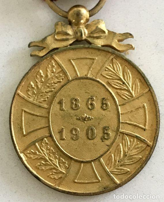 Militaria: Medalla de la Lealtad, 1905, bronce dorado, Leopoldo II de Bélgica. - Foto 3 - 160217386