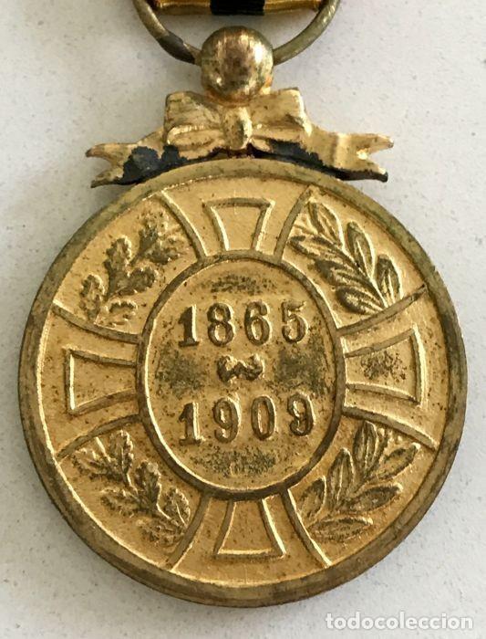 Militaria: Medalla de la Lealtad, 1909, bronce dorado, Leopoldo II de Bélgica. - Foto 2 - 160217690