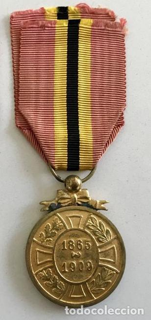 Militaria: Medalla de la Lealtad, 1909, bronce dorado, Leopoldo II de Bélgica. - Foto 3 - 160217690