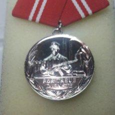 Militaria: MEDALLA DDR, FIEL SERVICIO CATEGORÍA PLATA.. Lote 160616305