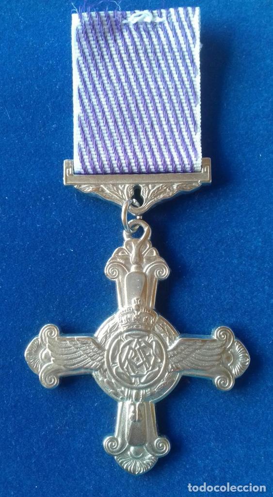 REINO UNIDO - MEDALLA RAF - SERVICIO DISTINGUIDOS EN VUELO 1918 (Militar - Reproducciones y Réplicas de Medallas )