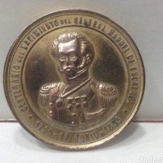 Militaria: MEDALLA, CENTENARIO DEL NACIMIENTO DEL GENERAL MANUEL DE ESCALADA 1795-1895. Lote 161377849