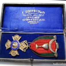 Militaria: MEDALLA MASONICA INGLESA DE PLATA MACIZA Y ESMALTES DE 1924.EXTRAORDINARIO ESTADO DE CONSERVACION.. Lote 147360886