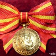 Militaria: INTERESANTE Y RARA MEDALLA CON LAZO DE DAMA. CARLOS QUINTO. 1500-1558. . Lote 162447666
