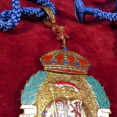 Militaria: IMPORTANTE MEDALLA DE LA SOCIEDAD HERÁLDICA ESPAÑOLA.CREARON LA IMPERIAL ORDEN HISPÁNICA DE CARLOS V. Lote 162450474