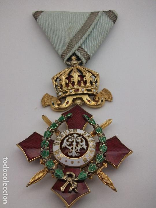 Militaria: Orden Búlgara Al Mérito Militar, IV Clase. Boris III. 1941/44. Entregada a Oficiales alemanes - Foto 2 - 162507566