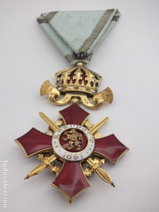 Militaria: Orden Búlgara Al Mérito Militar, IV Clase. Boris III. 1941/44. Entregada a Oficiales alemanes - Foto 3 - 162507566
