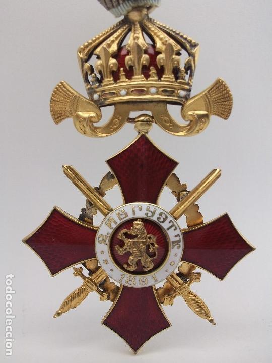 Militaria: Orden Búlgara Al Mérito Militar, IV Clase. Boris III. 1941/44. Entregada a Oficiales alemanes - Foto 6 - 162507566