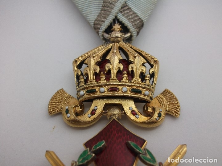 Militaria: Orden Búlgara Al Mérito Militar, IV Clase. Boris III. 1941/44. Entregada a Oficiales alemanes - Foto 4 - 162507566