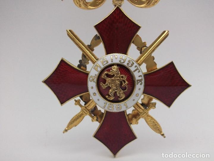 Militaria: Orden Búlgara Al Mérito Militar, IV Clase. Boris III. 1941/44. Entregada a Oficiales alemanes - Foto 7 - 162507566
