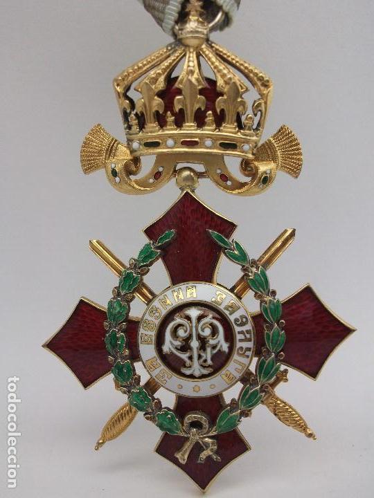 ORDEN BÚLGARA AL MÉRITO MILITAR, IV CLASE. BORIS III. 1941/44. ENTREGADA A OFICIALES ALEMANES (Militar - Medallas Extranjeras Originales)