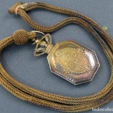 Militaria: MEDALLA VENERA DE JUEZ JUSTICIA MILITAR EN PLATA DORADA Y CORDÓN DE HILO DORADO ÉPOCA ALFONSO XIII. Lote 162768770