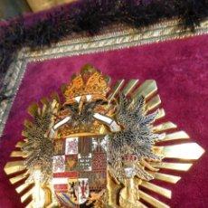 Militaria: ESPECTACULAR GRAN PLACA DE LA IMPERIAL ORDEN HISPÁNICA DE CARLOS V. GRAN TAMAÑO Y PESO.. Lote 163229418