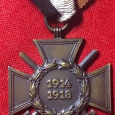 Militaria: MEDALLA ALEMANA ORIGINAL, CRUZ DE HINDENBURG O MÉRITO MILITAR CON ESPADAS. Lote 163457146