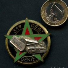 Militaria: FRANCIA, INSIGNIA, EMBLEMA METÁLICO, 31 RÉGIMENT DU GÉNIE. Lote 163802950