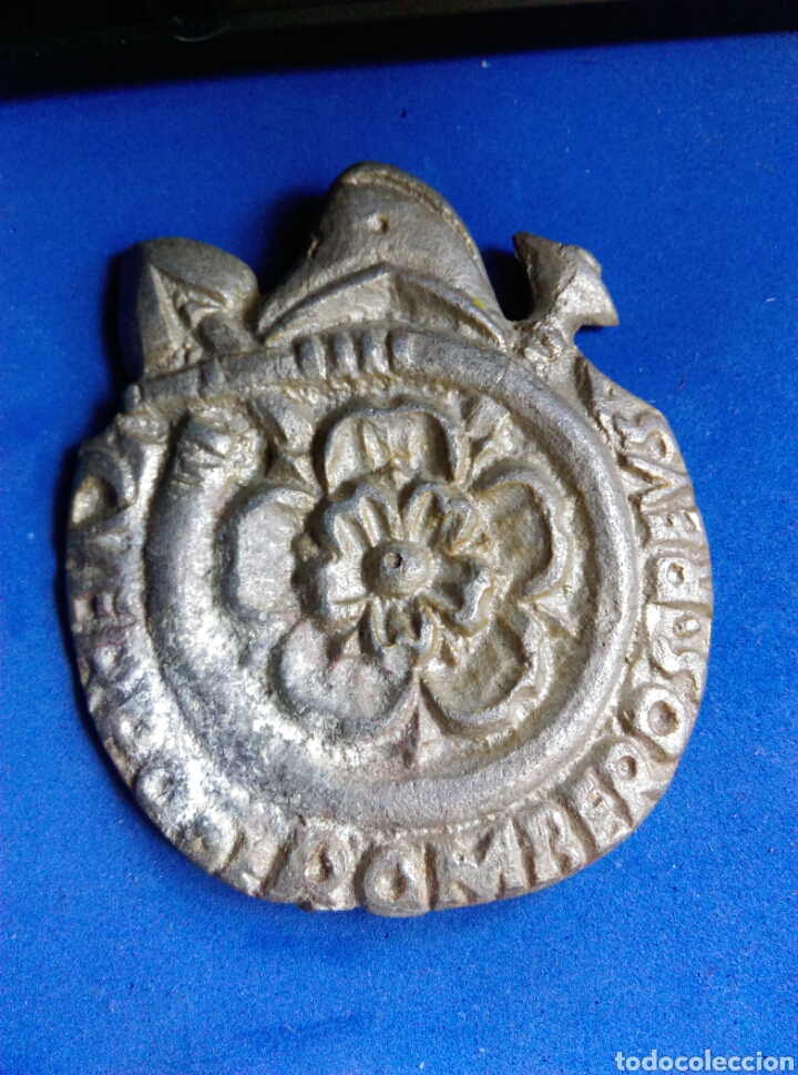 ANTIGUA RARA ÚNICA INSIGNIA PLACA CUERPO DE BOMBEROS REUS TARRAGONA 1861 (Militar - Medallas Españolas Originales )
