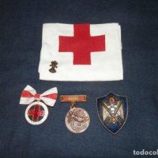 Militaria: LOTE MEDALLAS , INSIGNIAS, CONDECORACIONES, ESPAÑA, EPOCA FRANCO, ORIGINALES. Lote 163985710