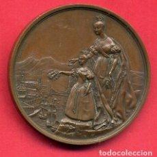 Militaria: BONITA MEDALLA ISABEL II A LA INVICTA BILBAO 25 DICIEMBRE 1836 , BRONCE , ORIGINAL , M. Lote 164134174