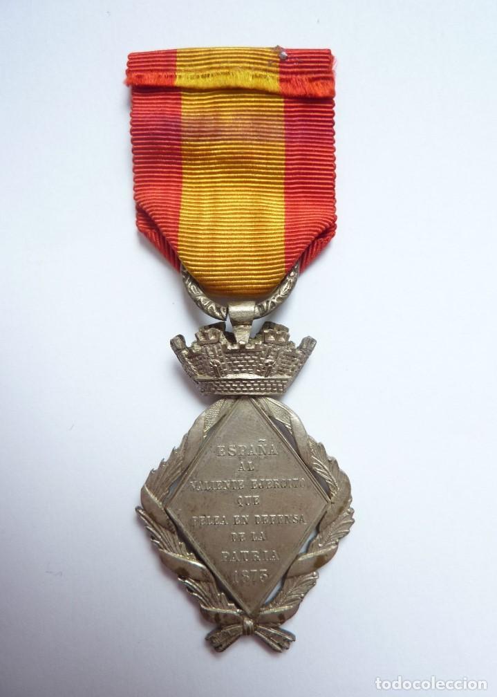 Militaria: España 1873 - Medalla Campaña de la Guerra de Cuba - Tamaño mediano (princesa) - Foto 3 - 164275382